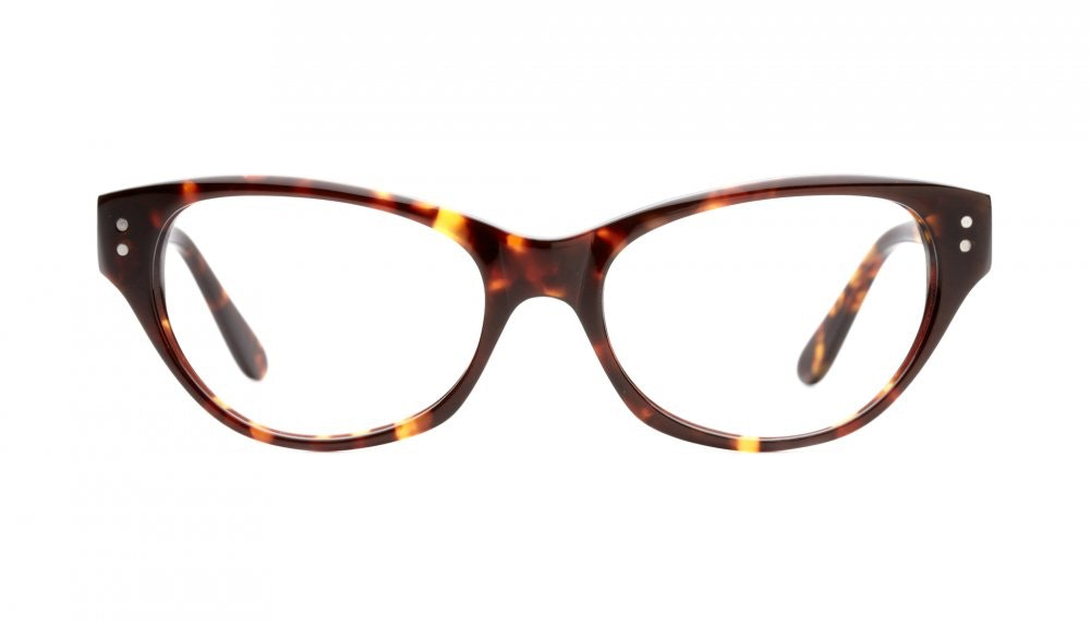 Affordable Fashion Glasses Cat Eye Eyeglasses Women Chitchat Sepia Kiss Front