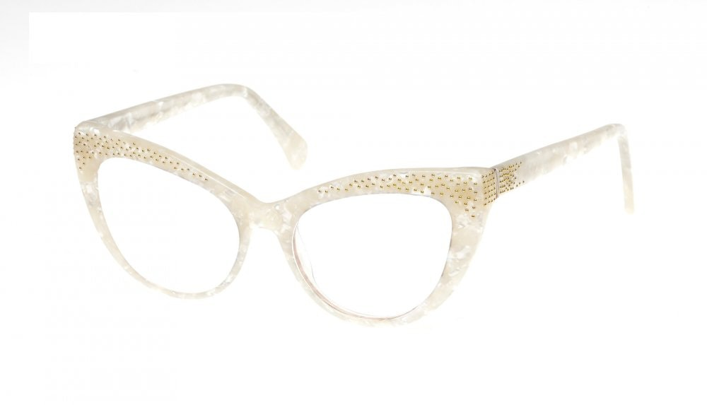 Affordable Fashion Glasses Cat Eye Eyeglasses Women Keiko Lily White Tilt