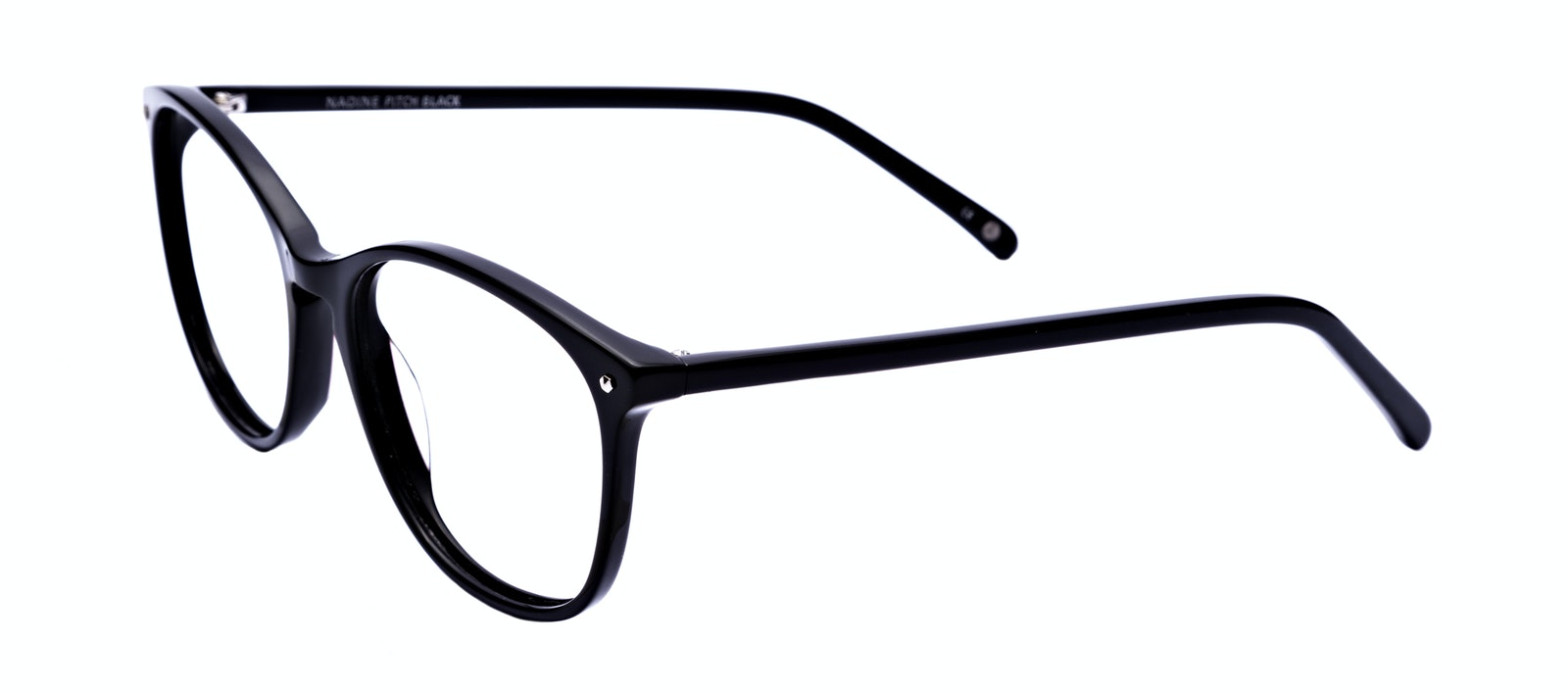 Affordable Fashion Glasses Round Eyeglasses Women Versa Pitch Black Tilt