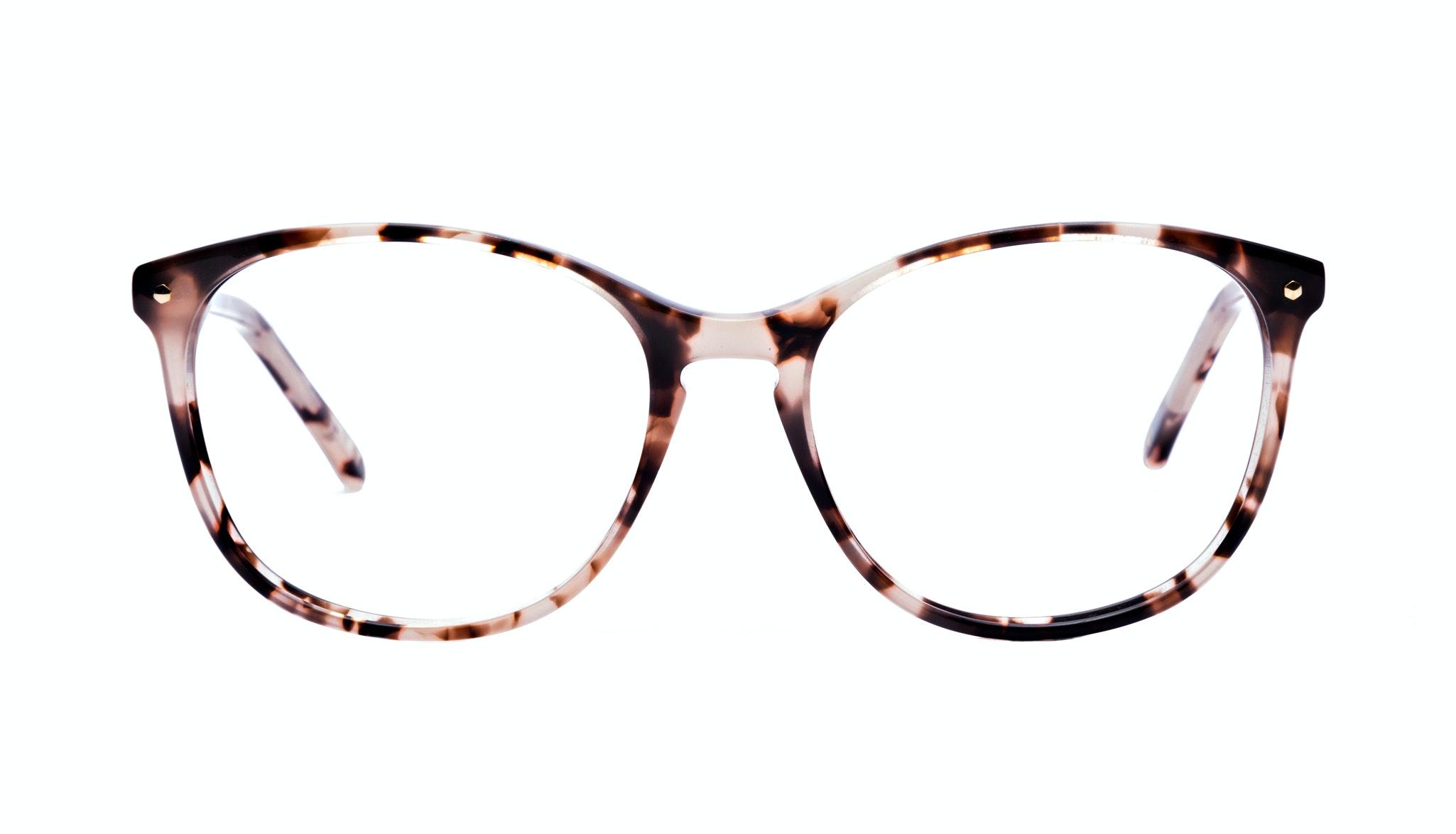 Affordable Fashion Glasses Rectangle Round Eyeglasses Women Nadine Pink Tortoise Front