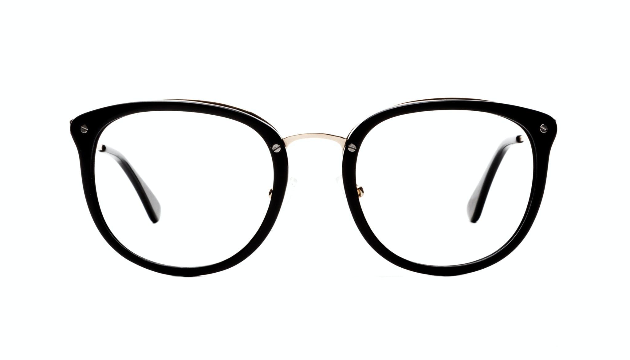 Affordable Fashion Glasses Square Round Eyeglasses Women Amaze Onyx Front
