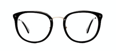 Affordable Fashion Glasses Square Round Eyeglasses Women Amaze Onyx Front