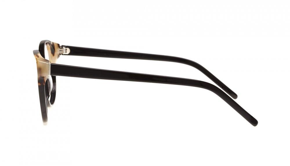 Affordable Fashion Glasses Round Eyeglasses Women Bis ebony granite Side