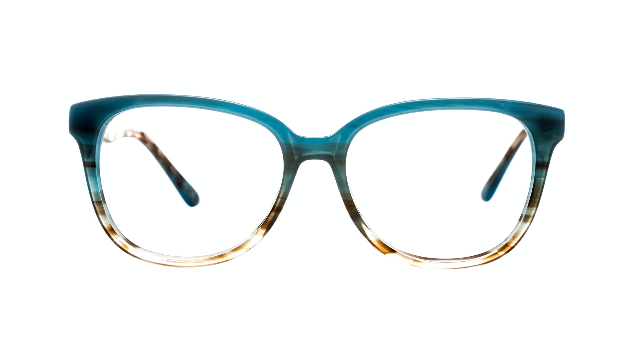 Affordable Fashion Glasses Round Eyeglasses Women Fancy-Pants Teal Front
