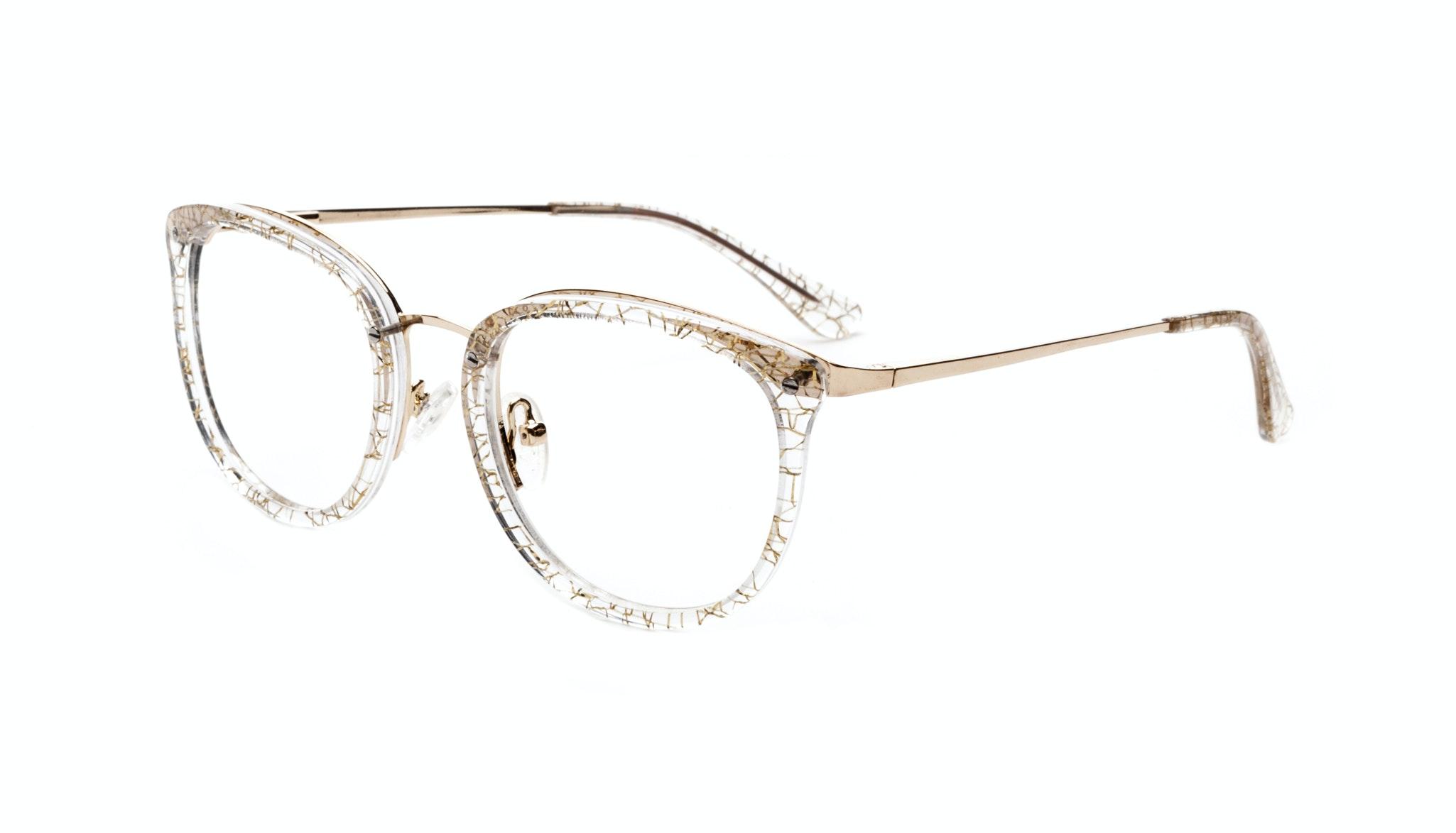 Affordable Fashion Glasses Round Eyeglasses Women Amaze Champagne Tilt