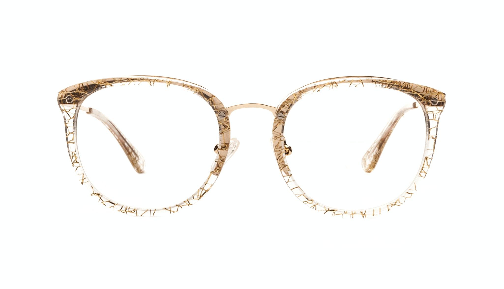 Affordable Fashion Glasses Round Eyeglasses Women Amaze Champagne Front