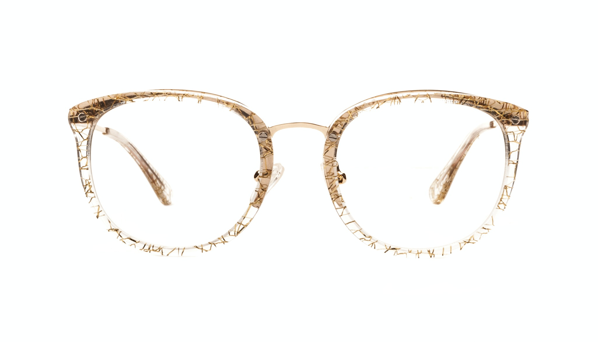Affordable Fashion Glasses Square Round Eyeglasses Women Amaze Champagne
