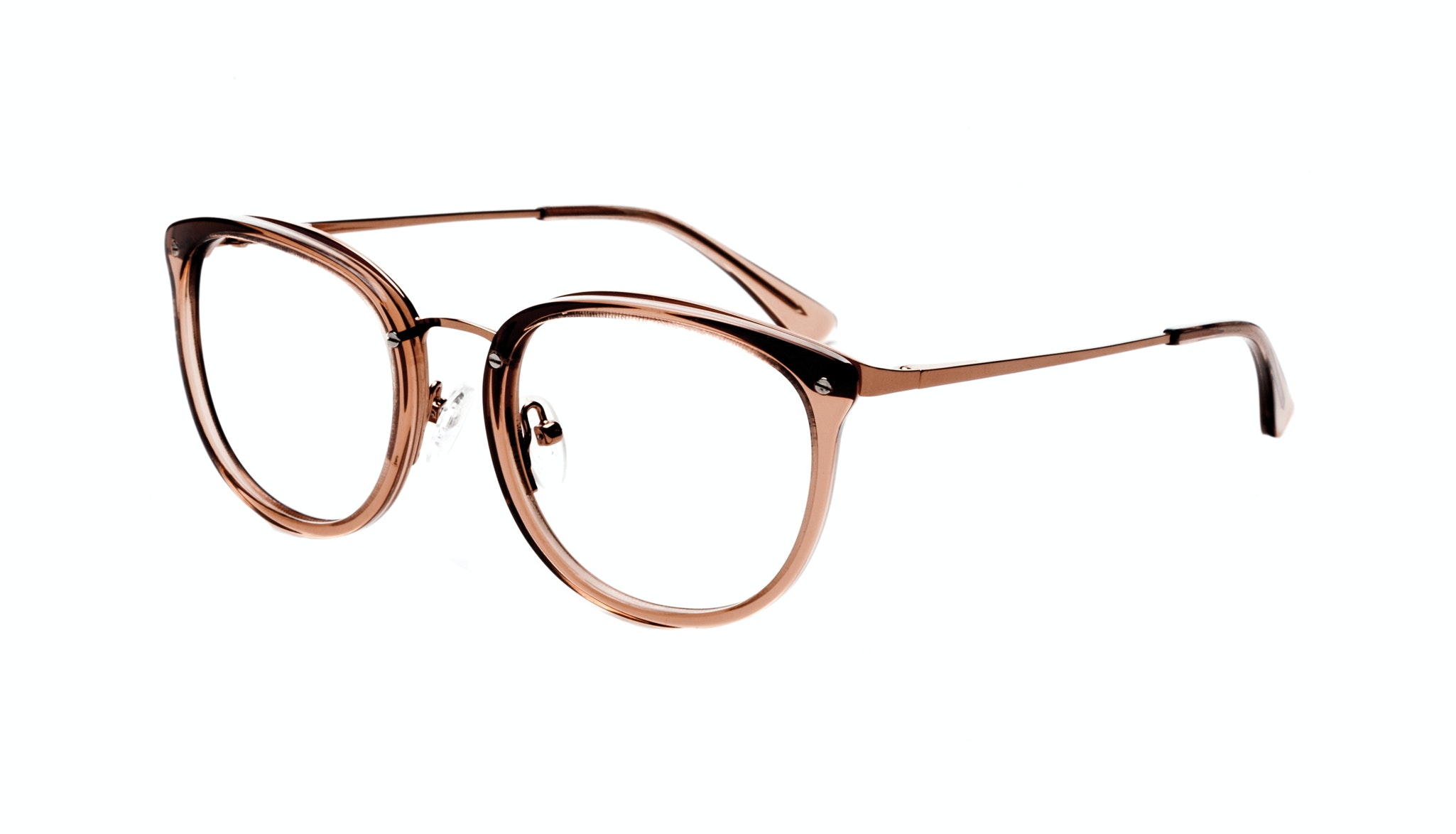 Affordable Fashion Glasses Square Round Eyeglasses Women Amaze Rose Tilt