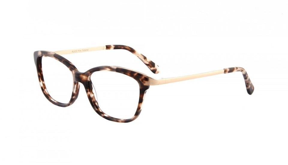 Affordable Fashion Glasses Square Eyeglasses Women Alice Pink Tortoise Tilt