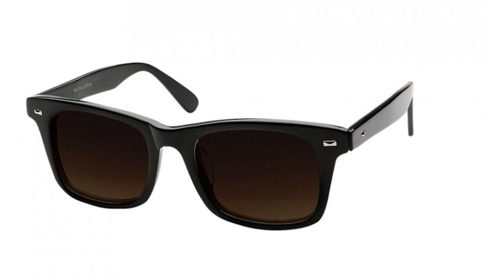 Affordable Fashion Glasses Square Sunglasses Men Women Belgo Black Tilt