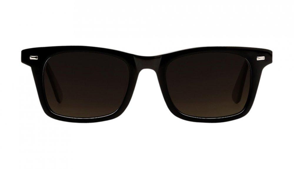 Affordable Fashion Glasses Square Sunglasses Men Women Belgo Black Front
