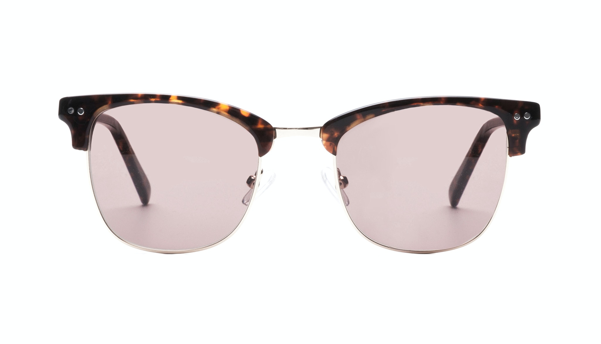 Affordable Fashion Glasses Square Sunglasses Men Lift Gold Sepia Front