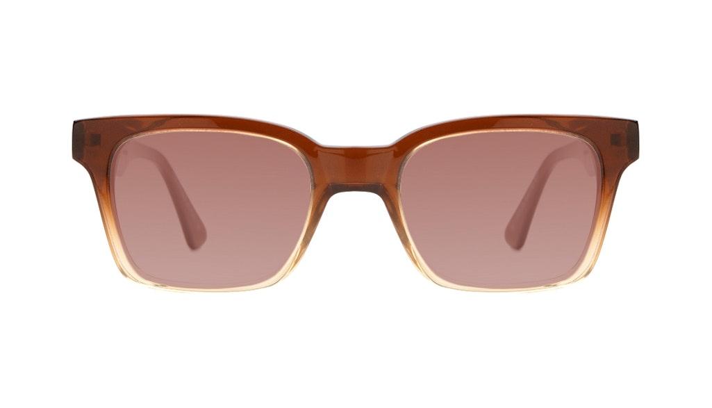 Affordable Fashion Glasses Square Sunglasses Women Jungle Chic Cinnamon Front