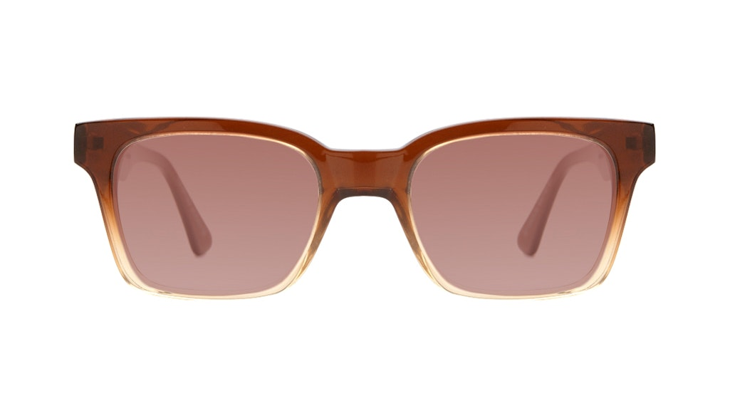 Affordable Fashion Glasses Square Sunglasses Women Jungle Chic Cinnamon Front
