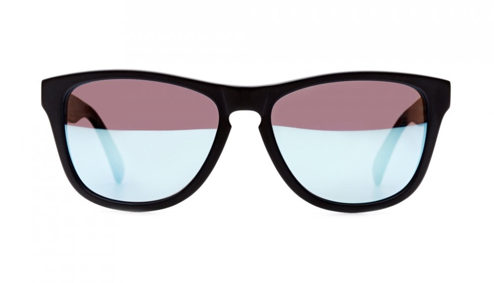 Affordable Fashion Glasses Square Sunglasses Women Venice Beach Frosted Black Front