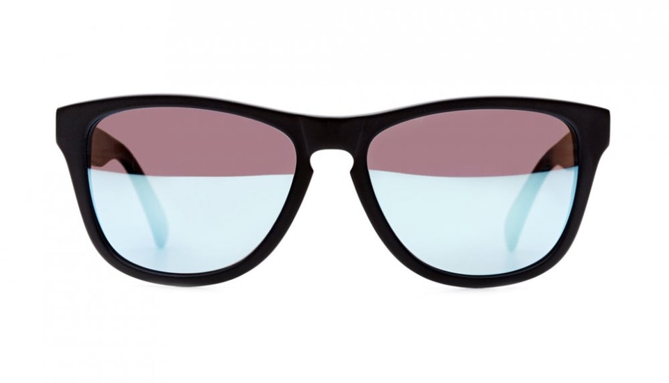Affordable Fashion Glasses Square Sunglasses Men Women Venice Beach Frosted Black Front