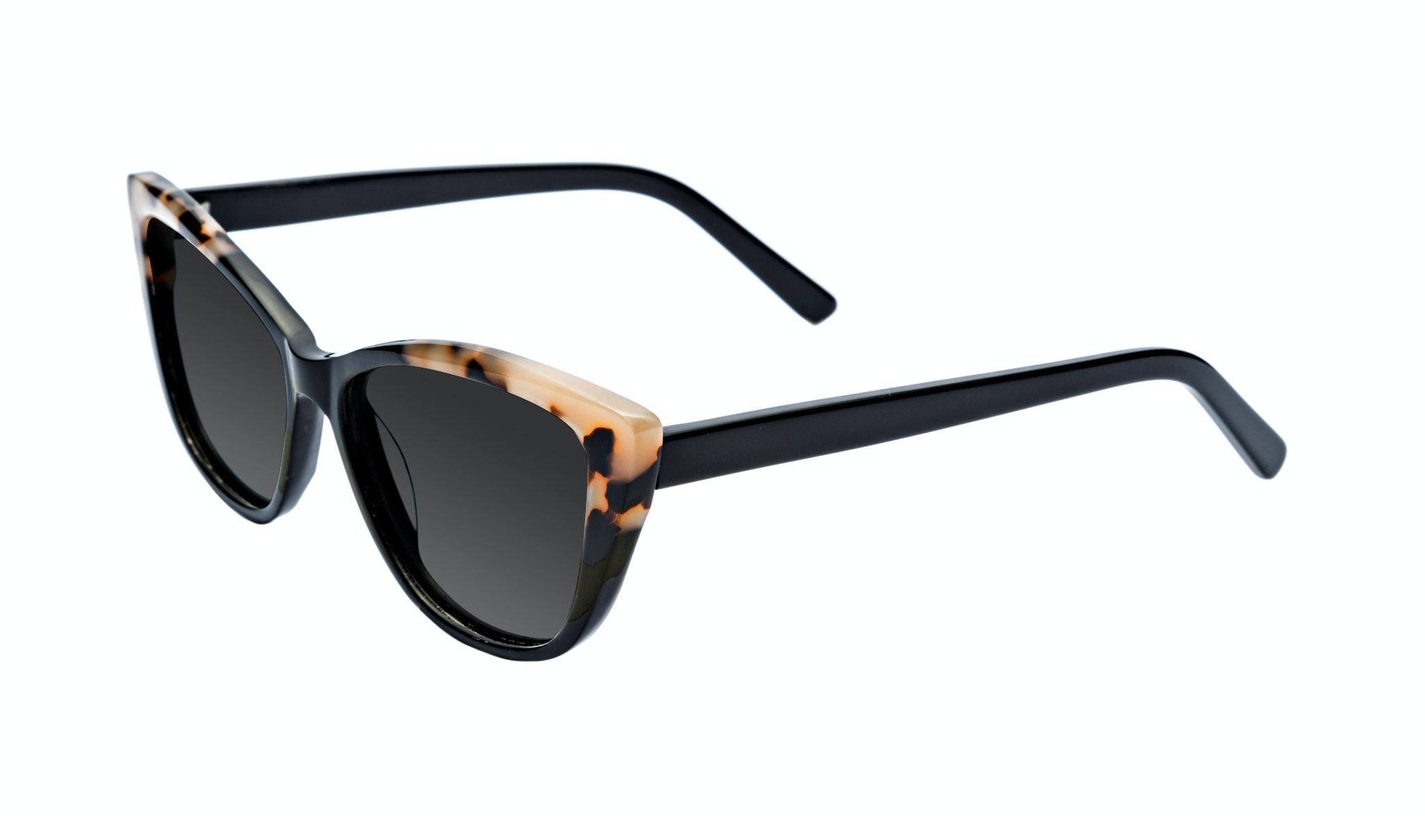 Affordable Fashion Glasses Cat Eye Daring Cateye Sunglasses Women Dolled Up Ebony Granite Tilt