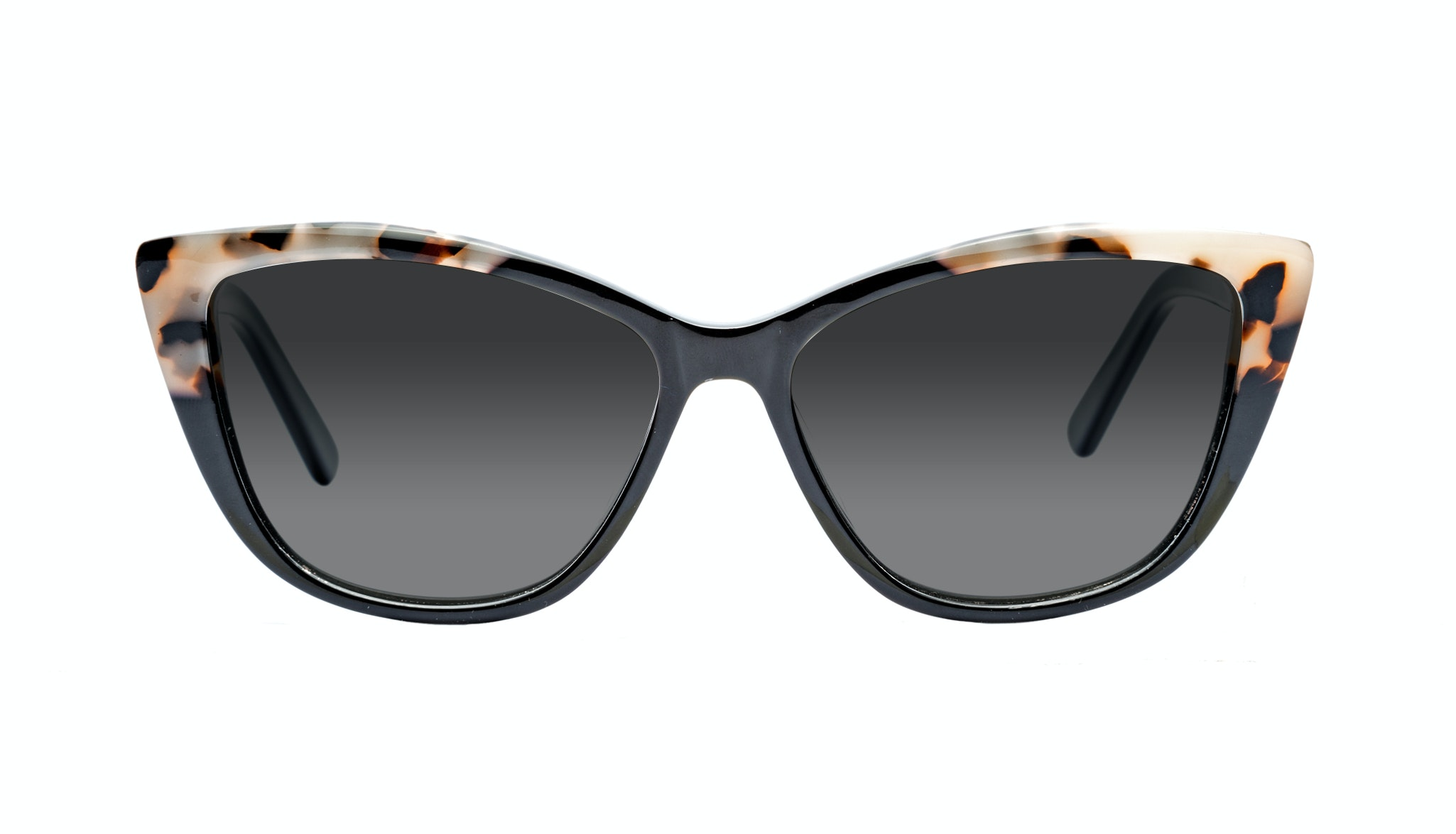 Affordable Fashion Glasses Cat Eye Daring Cateye Sunglasses Women Dolled Up Ebony Granite Front
