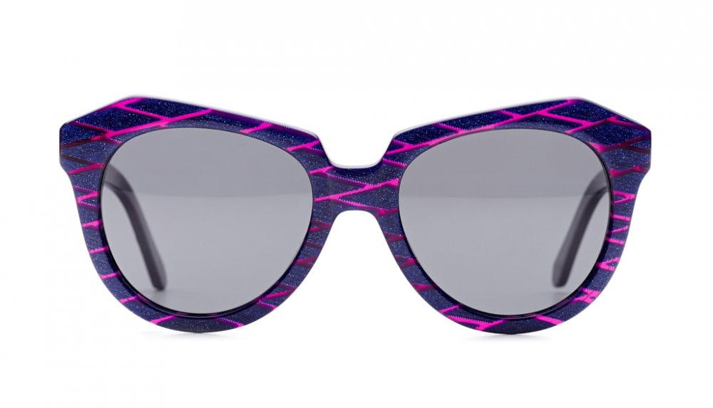 Affordable Fashion Glasses Cat Eye Sunglasses Women Ipanema Purple Scales Front