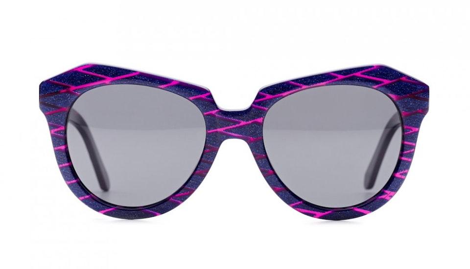 Affordable Fashion Glasses Cat Eye Sunglasses Women Ipanema Purple Scales Front