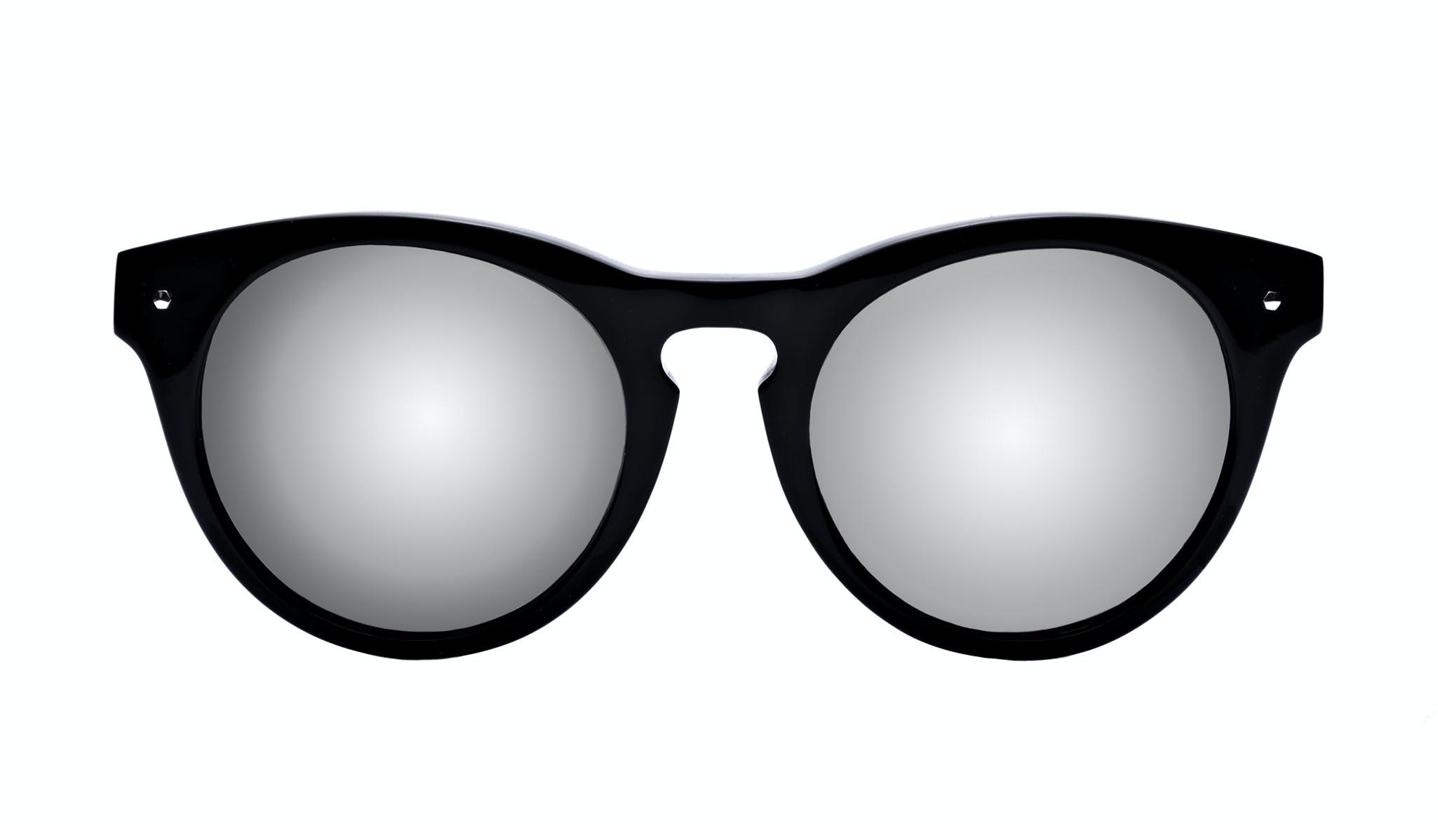 Lunettes tendance Oeil de chat Ronde Lunettes de soleil Femmes Nola Pitch Black