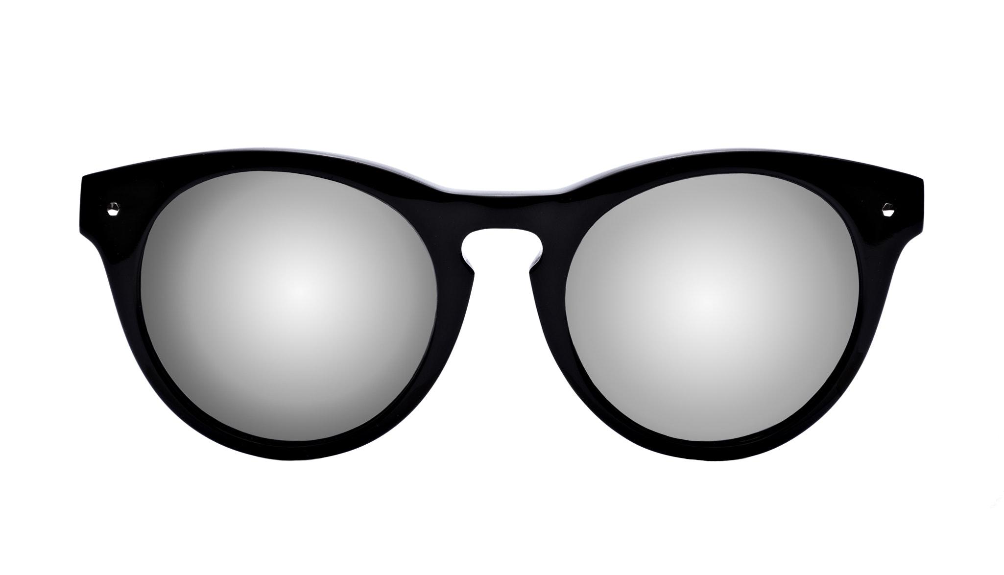 all black aviator sunglasses hewg  Affordable Fashion Glasses Cat Eye Round Sunglasses Women Nola Pitch Black