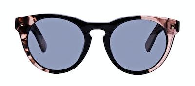 Affordable Fashion Glasses Cat Eye Round Sunglasses Women Nola Rose Black Front