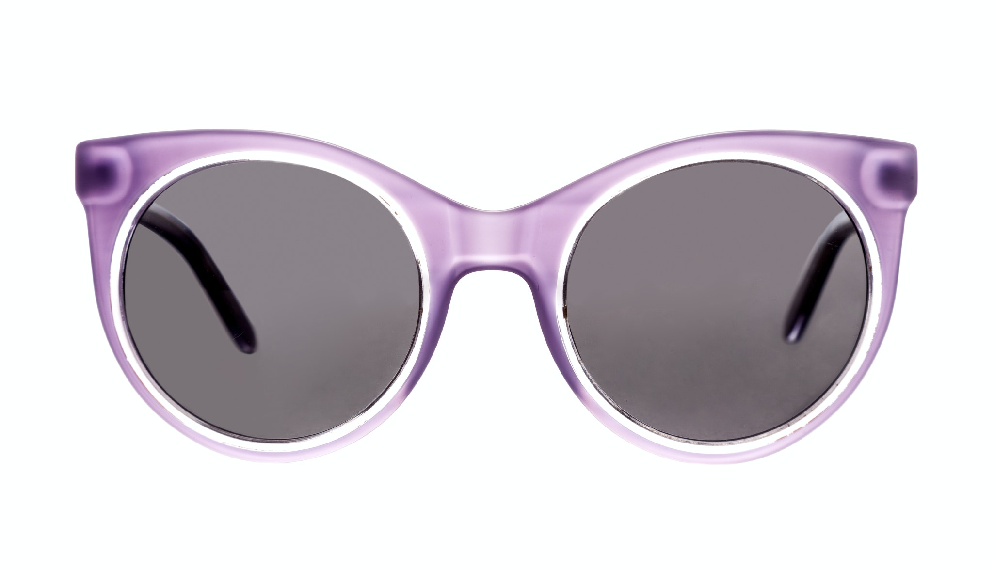 Affordable Fashion Glasses Cat Eye Round Sunglasses Women Pop Lilac Ice