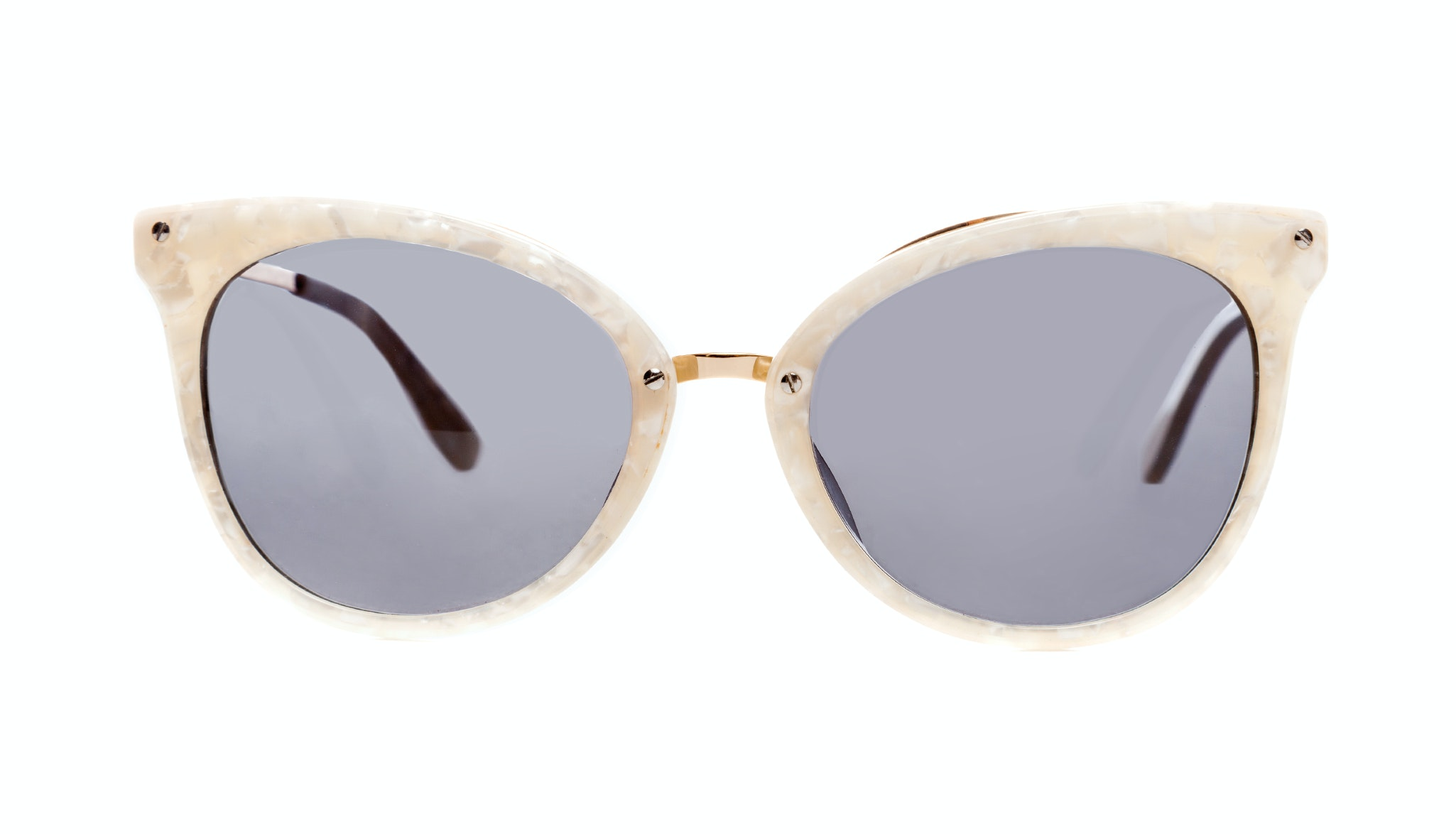 Affordable Fashion Glasses Cat Eye Sunglasses Women BFF Pearl Front