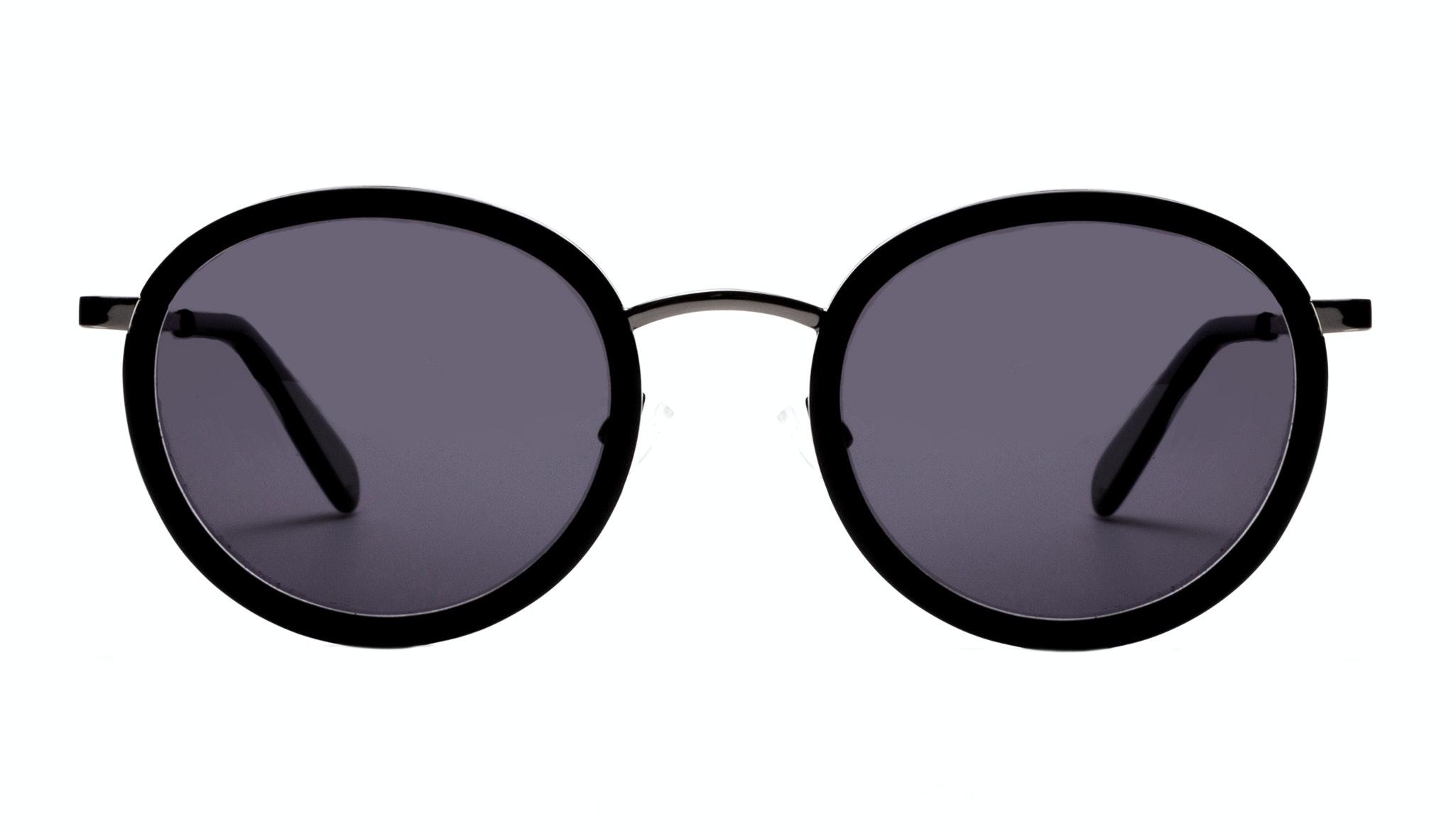 Affordable Fashion Glasses Round Sunglasses Women Strike Onyx