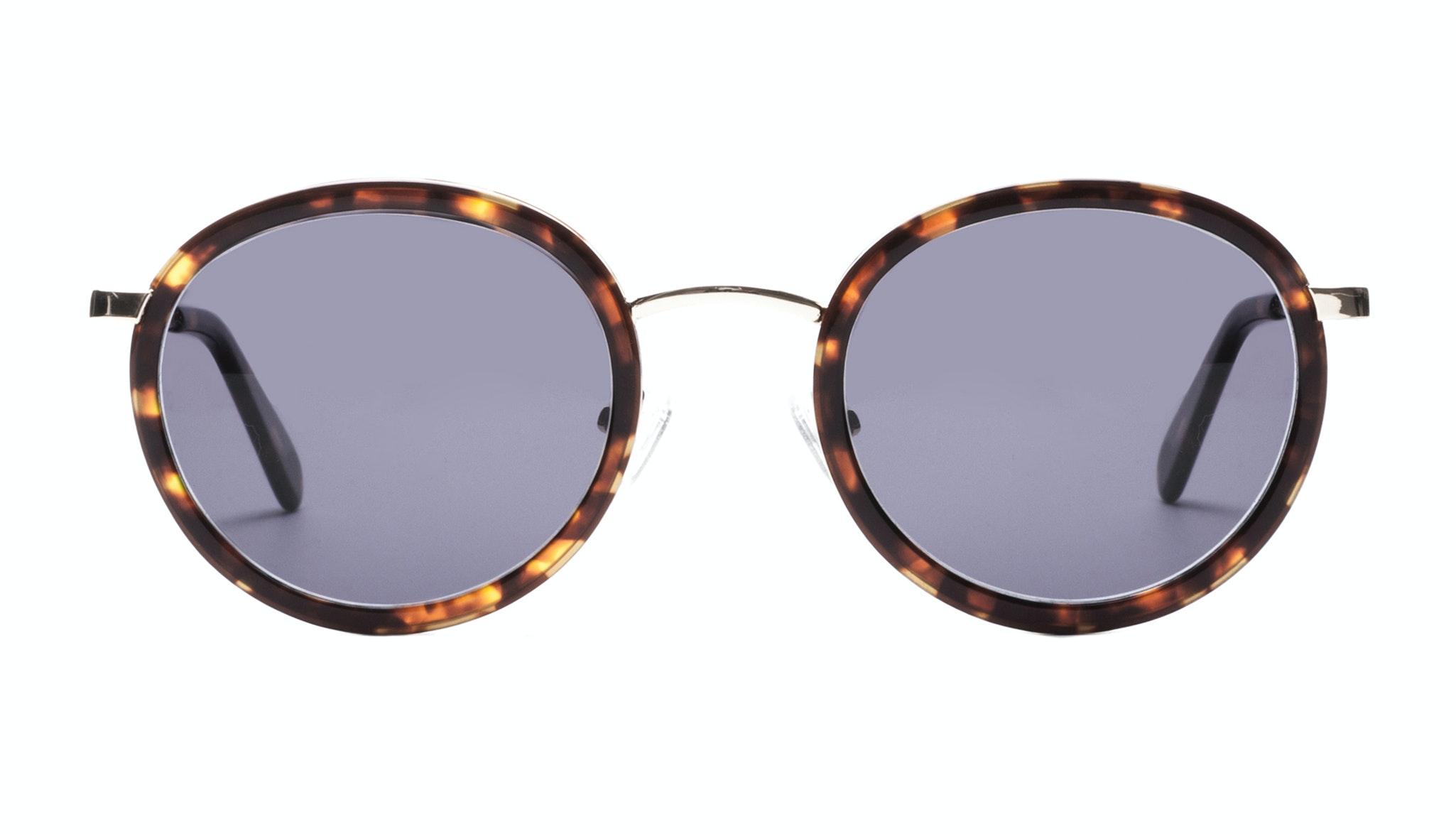 Affordable Fashion Glasses Round Sunglasses Women Strike Gold Sepia