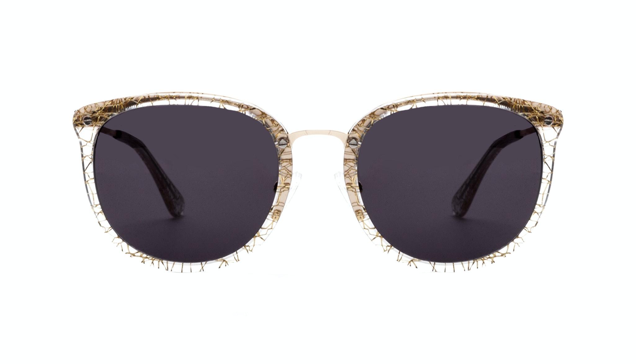 Affordable Fashion Glasses Square Round Sunglasses Women Amaze Champagne