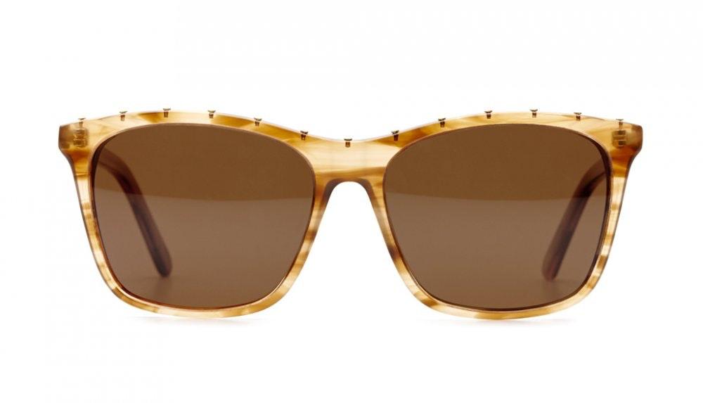 Affordable Fashion Glasses Square Sunglasses Women Kuta Jellyfish Beige Front