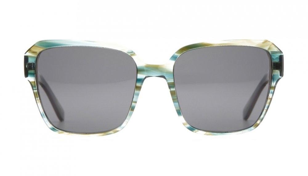 Affordable Fashion Glasses Square Sunglasses Women Wonderland Aqua Front