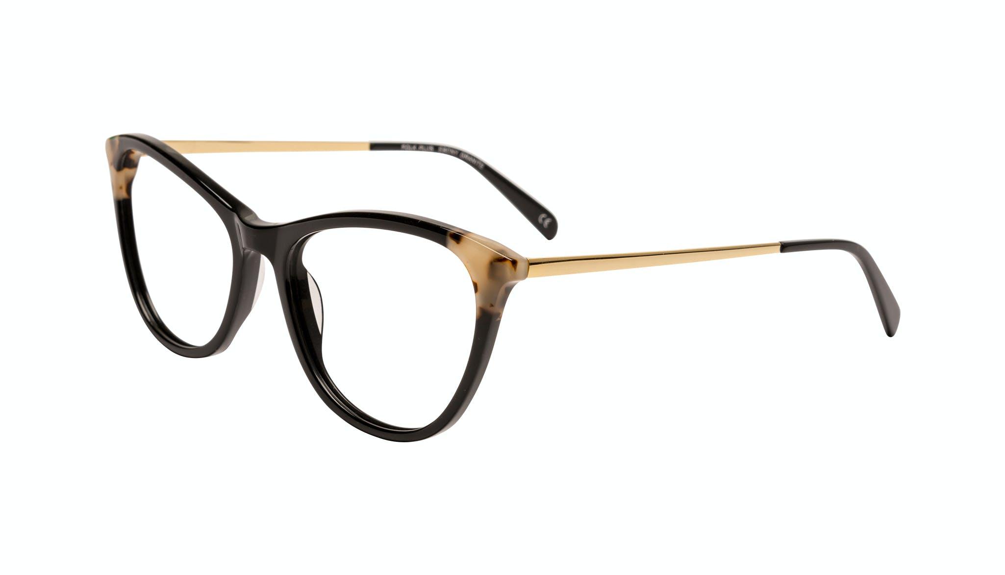 Affordable Fashion Glasses Cat Eye Eyeglasses Women Folk Plus Ebony Granite Tilt