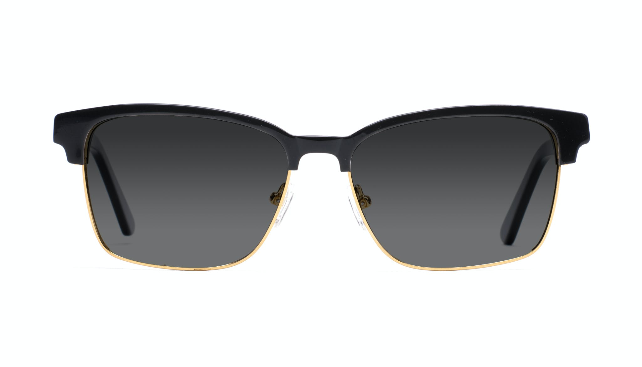 Affordable Fashion Glasses Rectangle Square Sunglasses Men Gallery Black Front