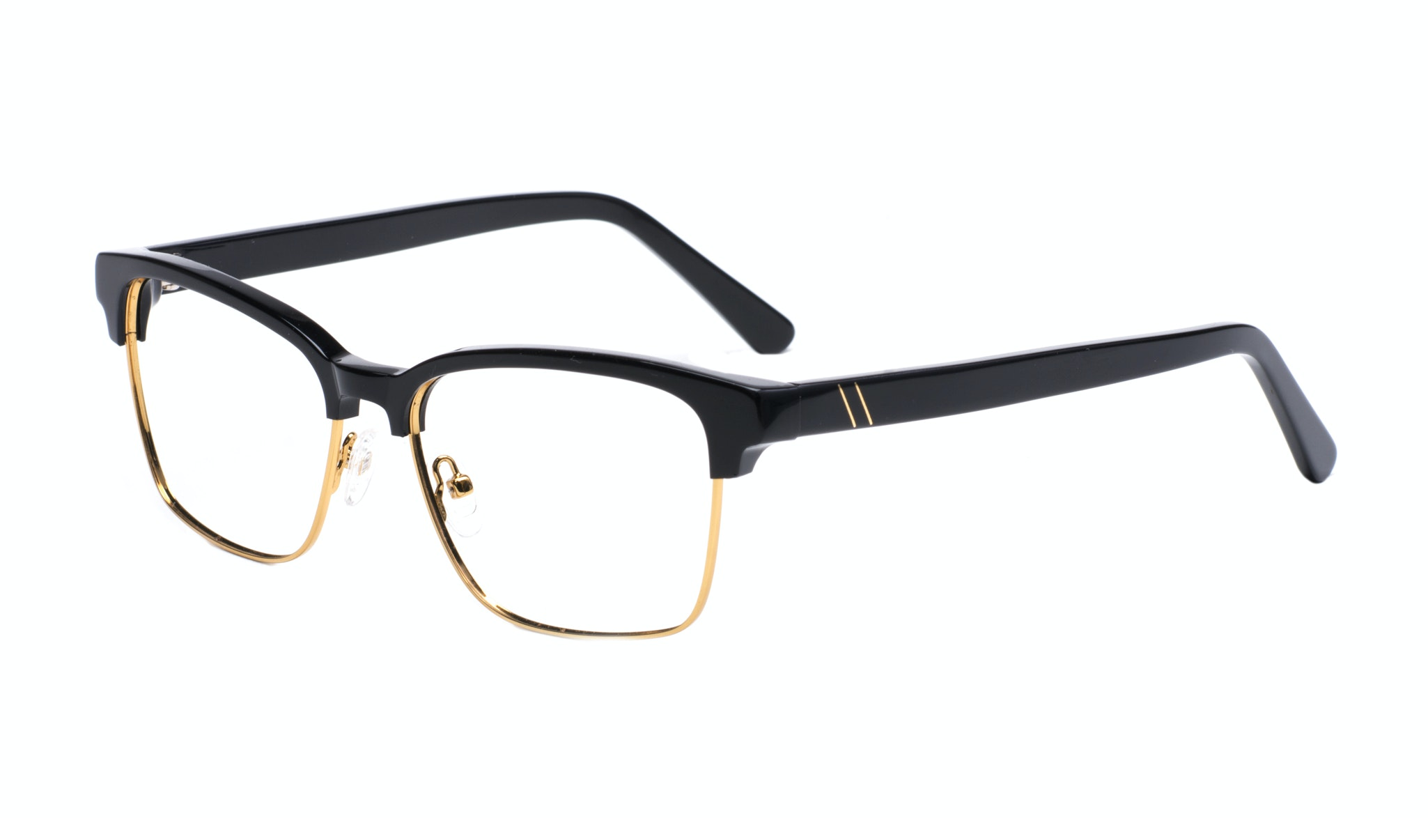 Affordable Fashion Glasses Rectangle Square Eyeglasses Men Gallery Black Tilt