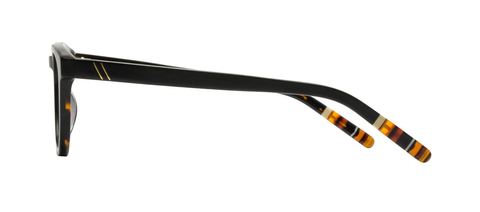 Affordable Fashion Glasses Round Eyeglasses Men Goal Black Tort Side