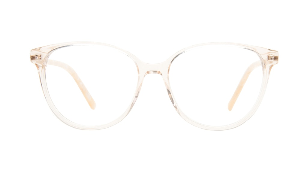 Affordable Fashion Glasses Round Eyeglasses Women Imagine II Golden Marble Front