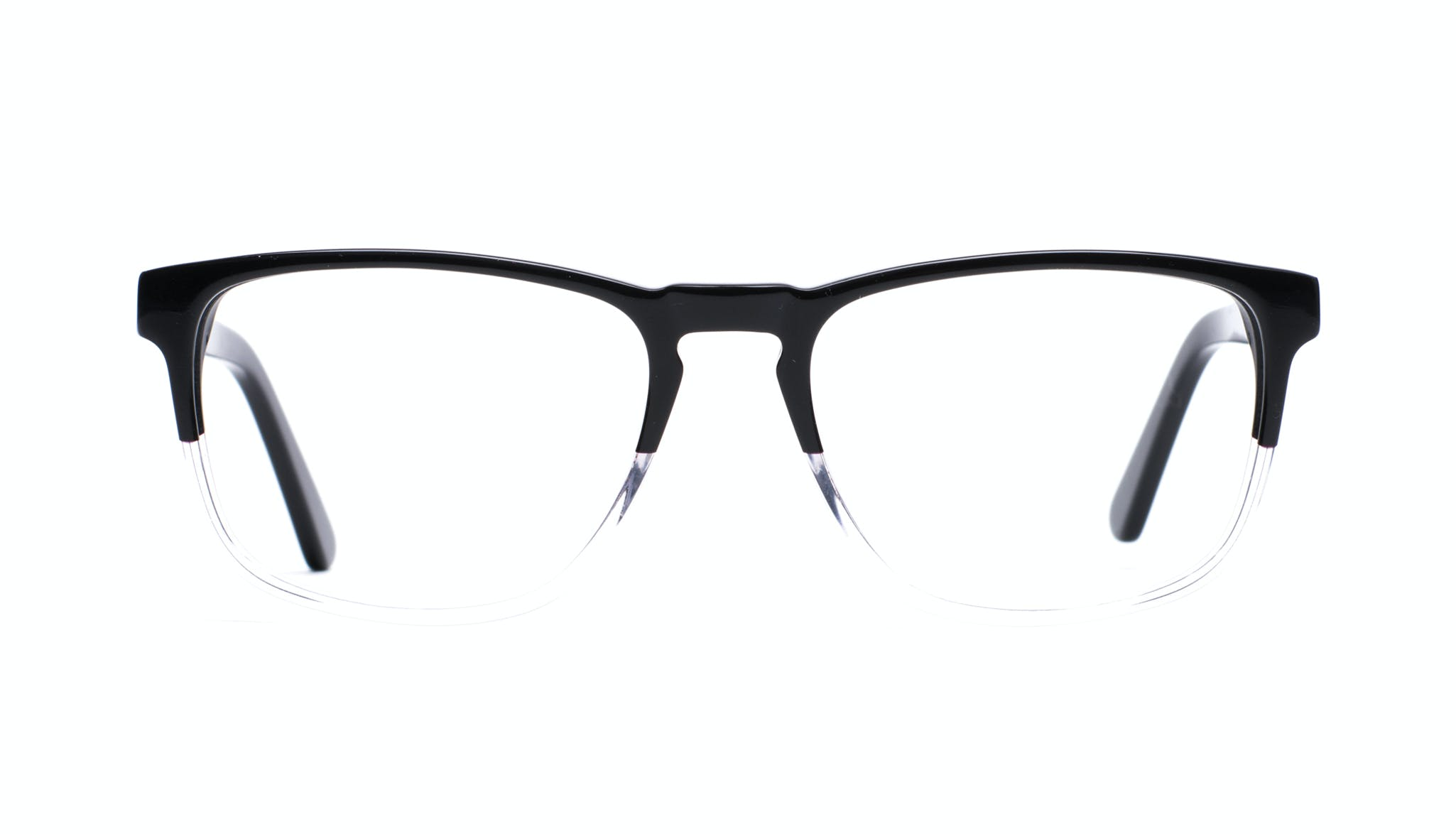 Affordable Fashion Glasses Rectangle Eyeglasses Men Loft Black Diamond Front