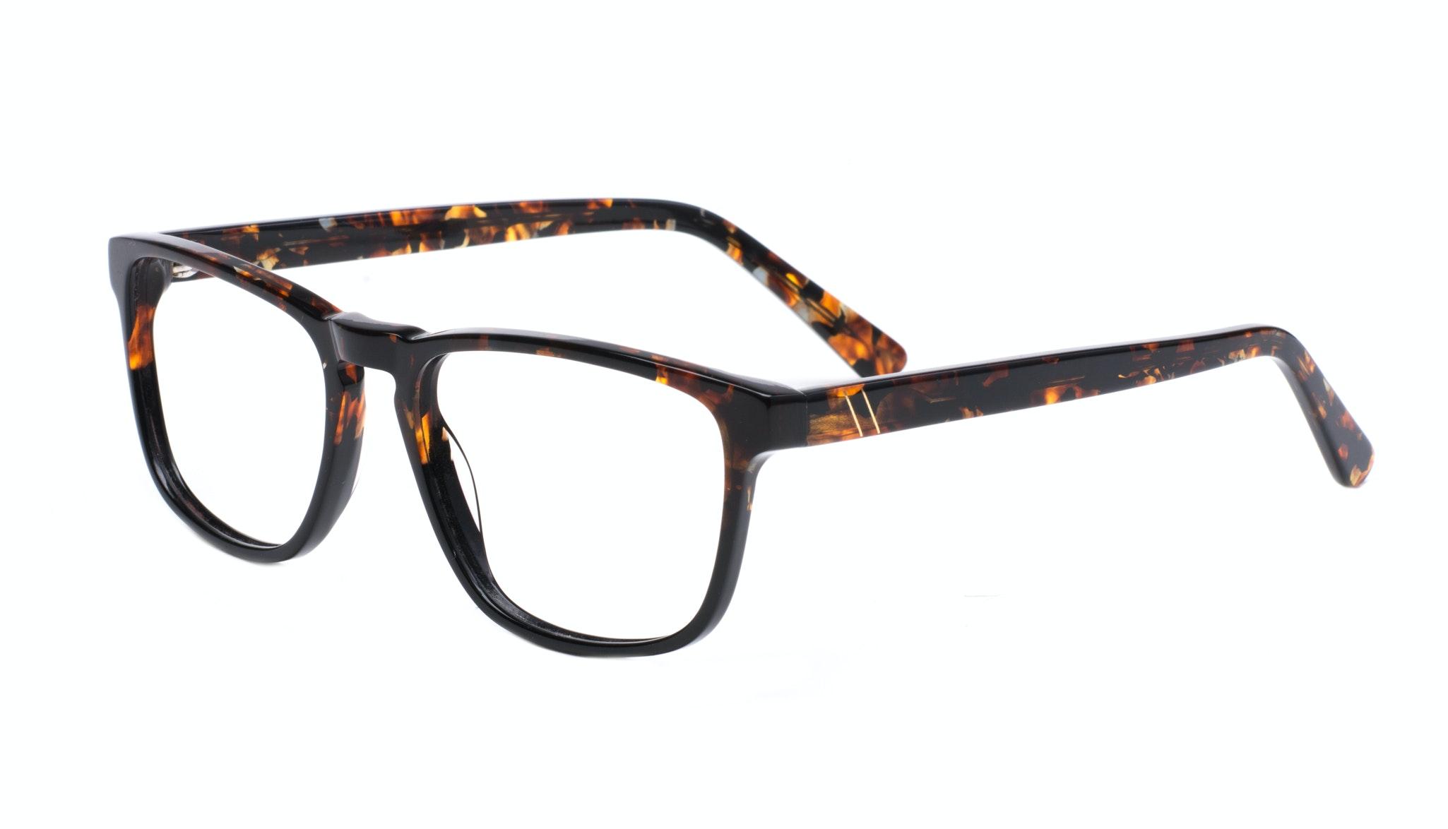 Affordable Fashion Glasses Rectangle Eyeglasses Men Loft Mahogany Black Tilt