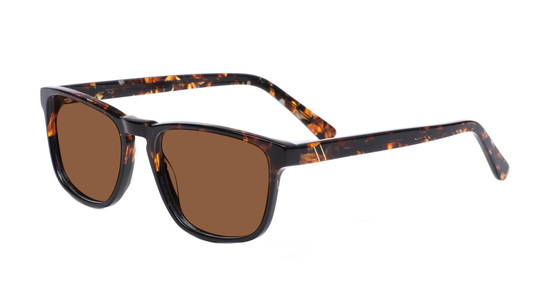 Affordable Fashion Glasses Rectangle Sunglasses Men Loft Mahogany Black Tilt