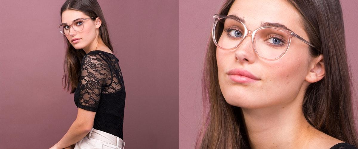 Affordable Fashion Glasses Cat Eye Square Eyeglasses Women Area Rose