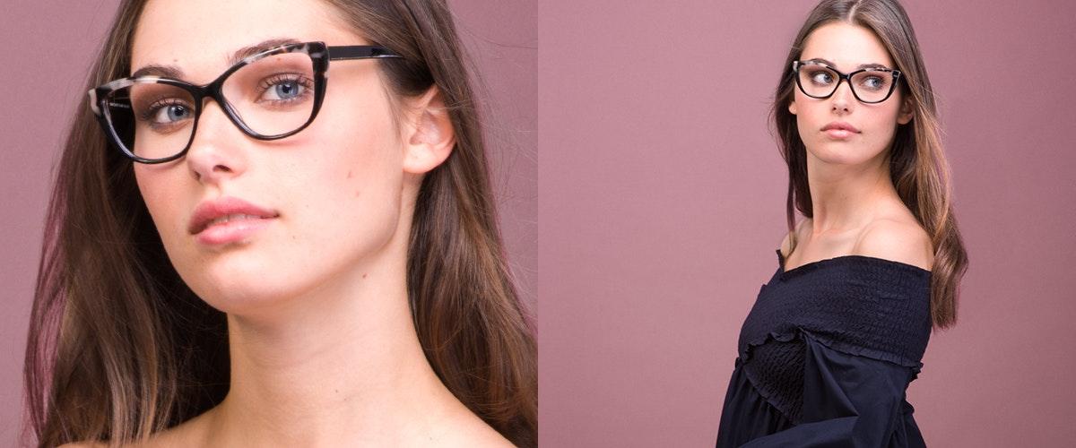 Affordable Fashion Glasses Cat Eye Daring Cateye Eyeglasses Women Dolled Up Ebony Granite