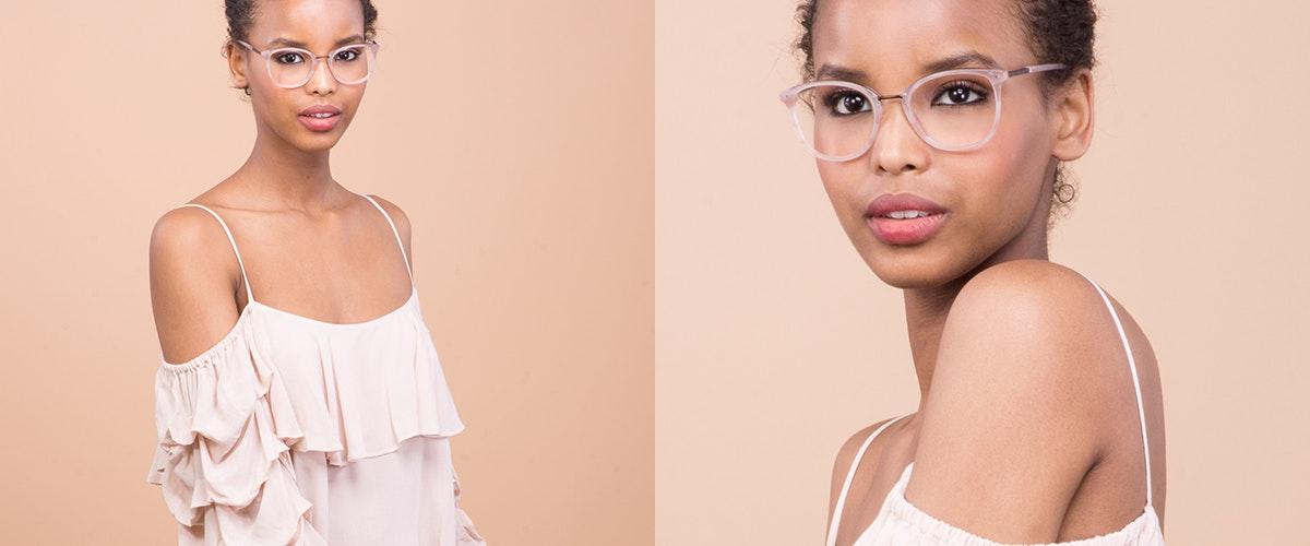 Affordable Fashion Glasses Square Round Eyeglasses Women Bella Blush