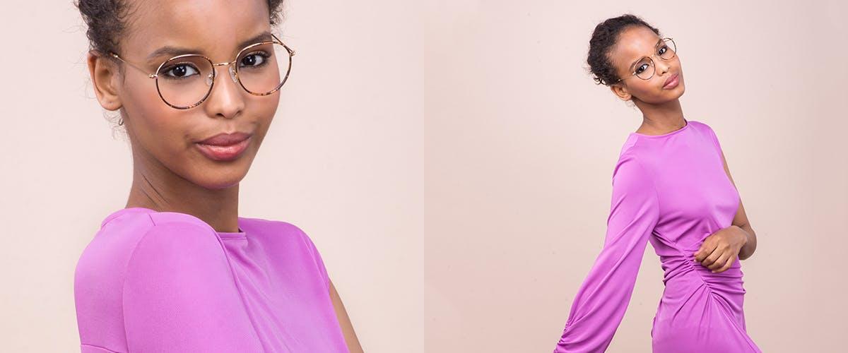 Affordable Fashion Glasses Aviator Round Sunglasses Women Subrosa Fauve