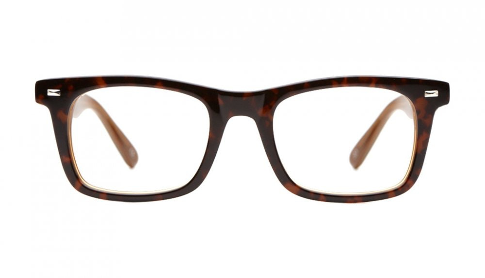 Affordable Fashion Glasses Square Eyeglasses Men Urban Dandy Cognac Front