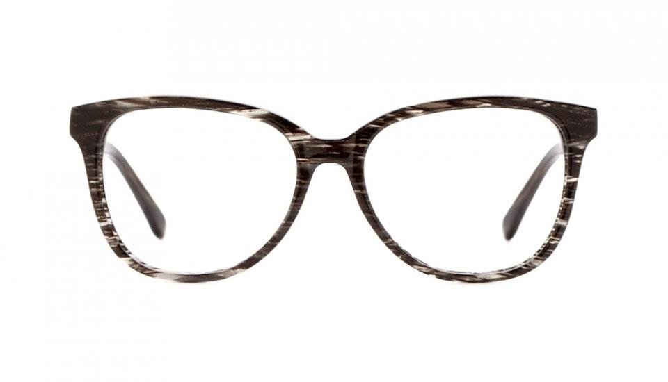 Affordable Fashion Glasses Round Eyeglasses Women Fancy-Pants Black Tie Tweed Front
