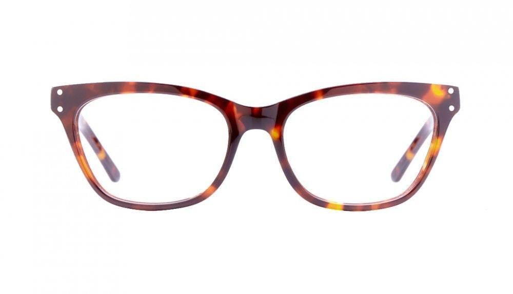 Affordable Fashion Glasses Cat Eye Eyeglasses Women Martha Sepia Kiss Front