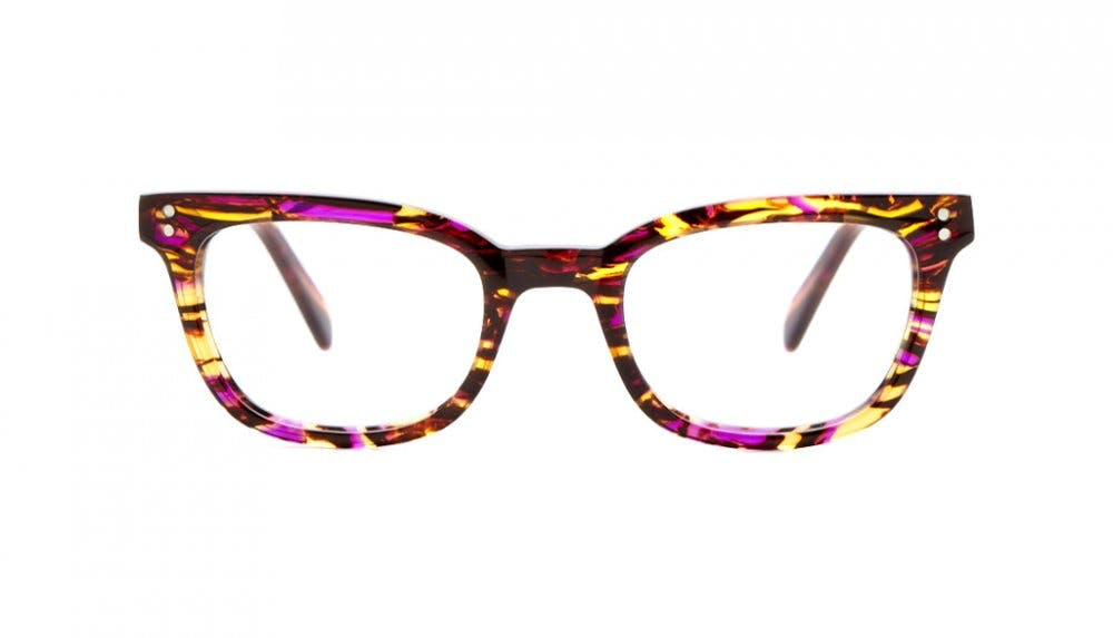 Affordable Fashion Glasses Rectangle Eyeglasses Women Fashionably Late Party Purple Front